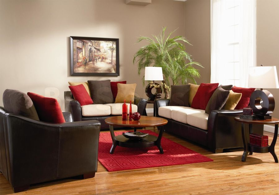 living room decorating ideas burgundy sofa